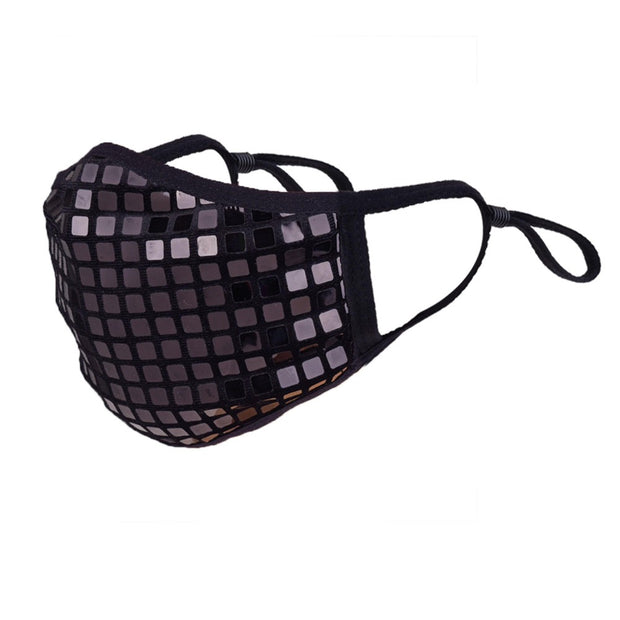 Disco-Ball Sequin Face Mask