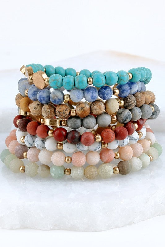 Natural Stone Stretch Bracelet