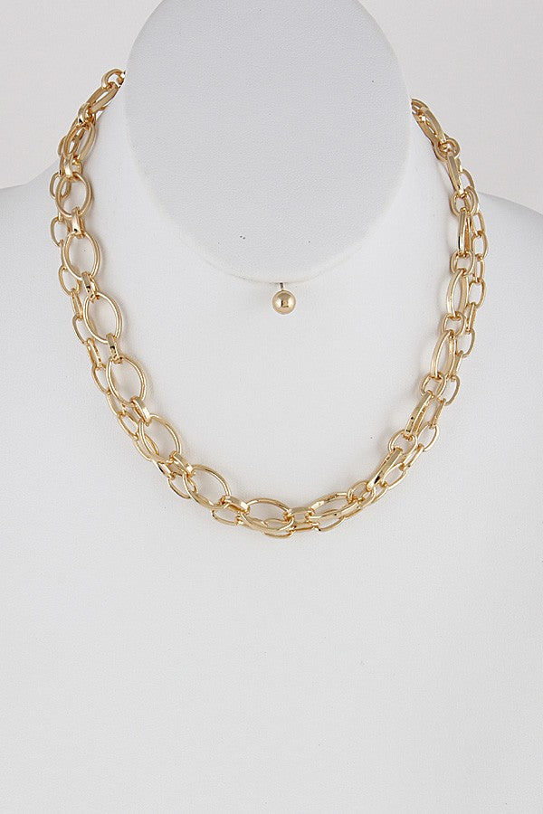 2 Layer Chain Necklace