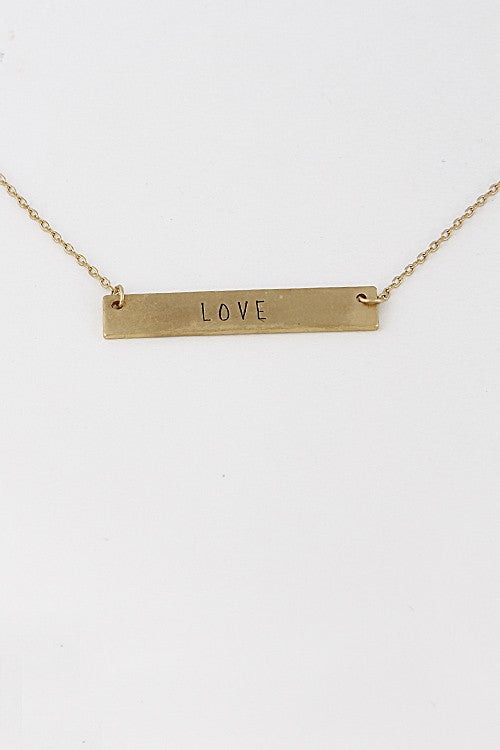 LOVE Simple Bar Necklace