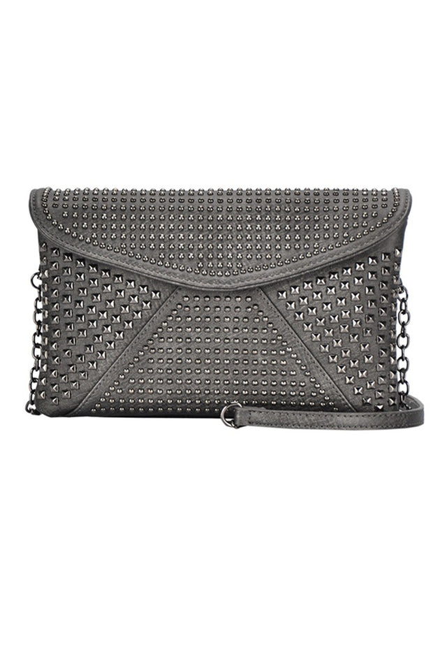 Night Out Studded Clutch / Cross Body Bag