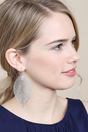 Filigree Leaf Dangle Earring