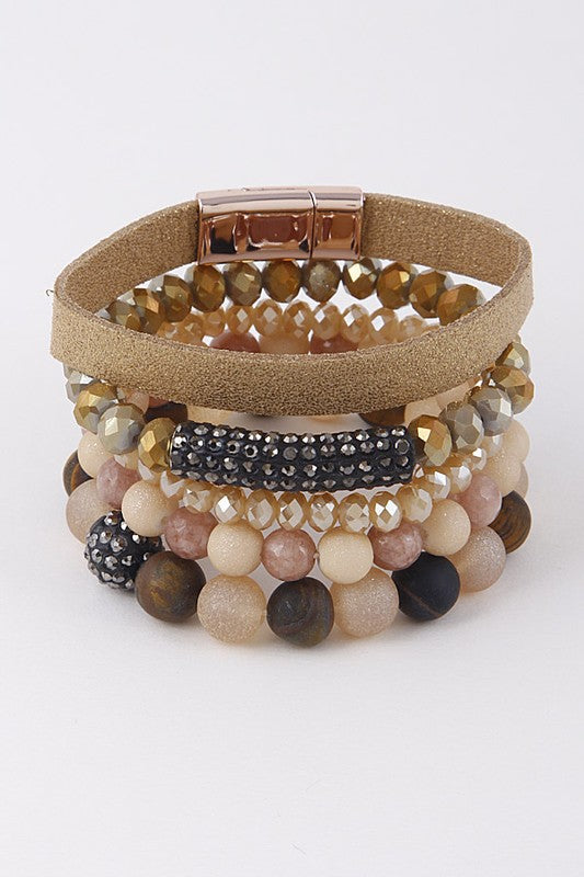 5 Piece Crystal Bracelet Set