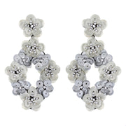 Sequin Flower Drop Earring