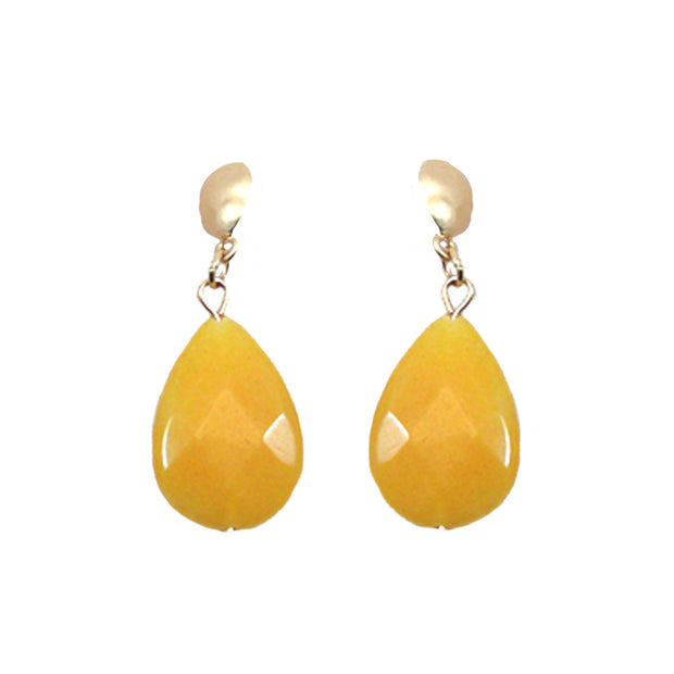Stone Teardrop Dangle Earring