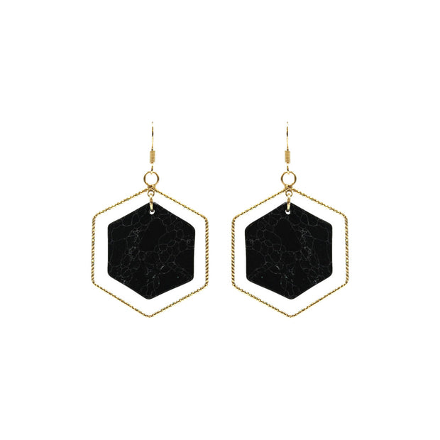 Octagon Drop Earring