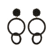 Seed Beaded Double Circle Earring