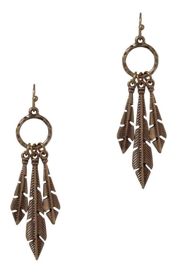 3 Piece Feather Dangle Earring