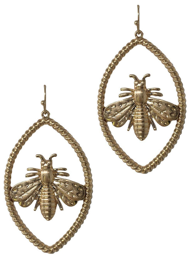 Oval Bee Worn Casting Earring
