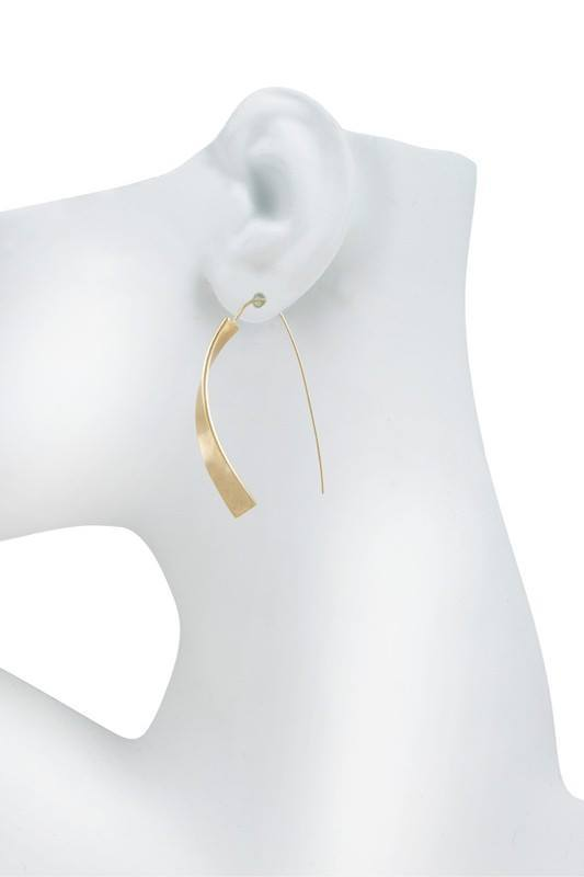 Twist Metal Bar Earring