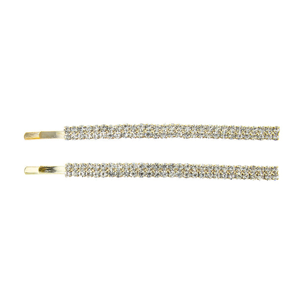 2 Line Rhinestone Hair Pins