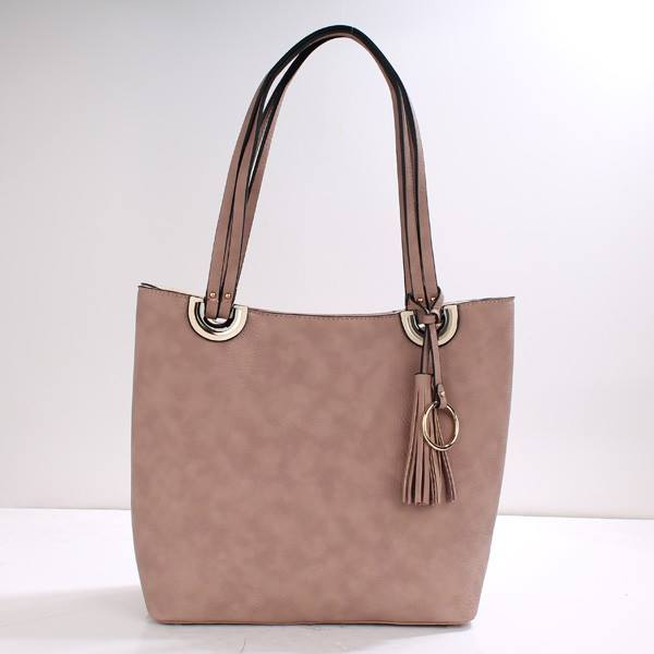 Lady Tote Bag With Tassel Accent