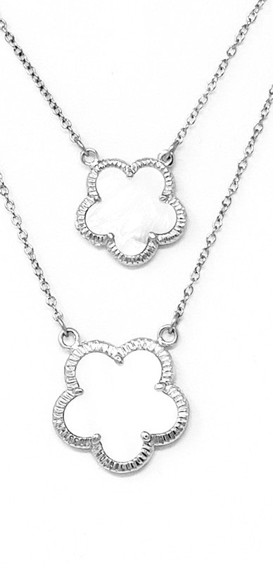 DOUBLE LAYER FLOWER NECKLACE