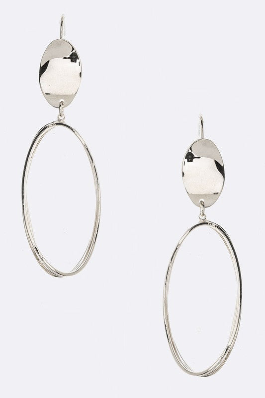 Oval Ring Drop Iconic Earrings $15