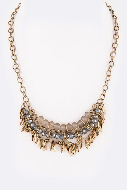 Fringe Iconic Mix Beads Layer Necklace