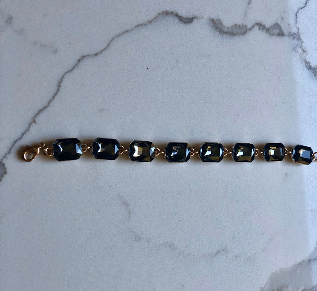 Emerald Cut Colored Stones Bracelet