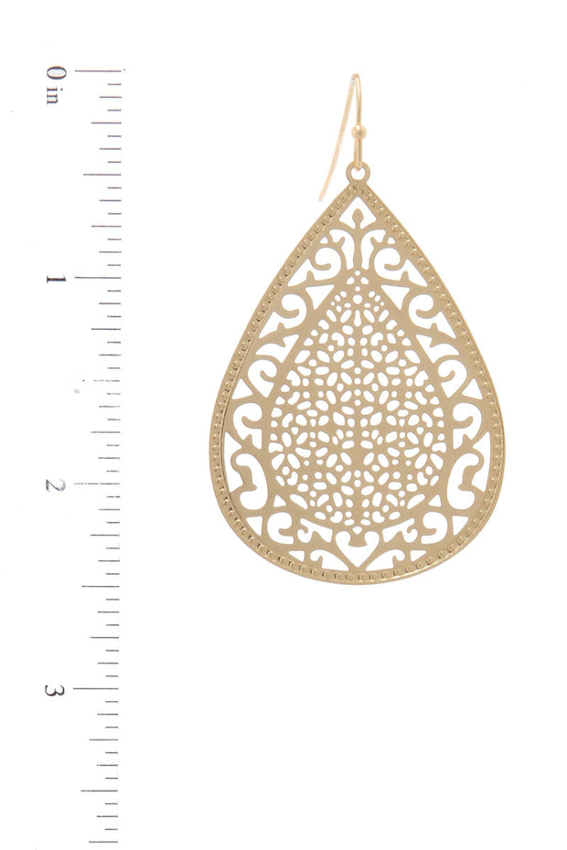 Detailed Filigree Teardrop Earring