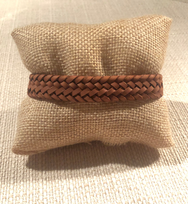 Faux Leather Braided Adjustable Bracelet