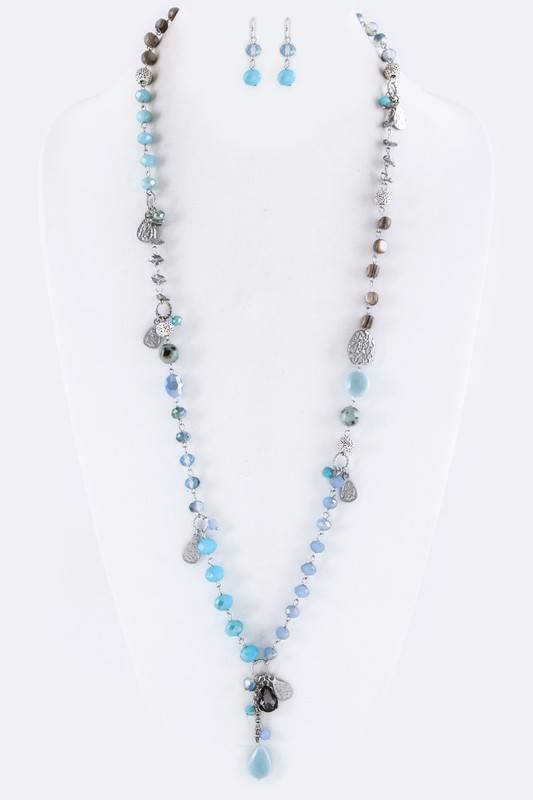 Anthro Mix Beads Necklace
