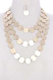 Metal Coin Layer Necklace