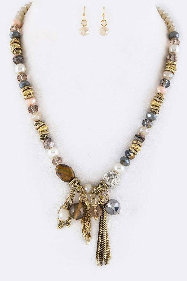 Mix Beads & Charms Necklace