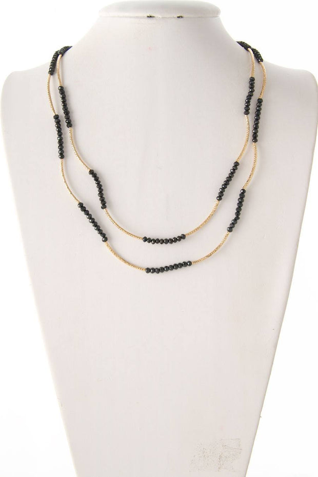 Two Tone Beaded Stretch Necklace