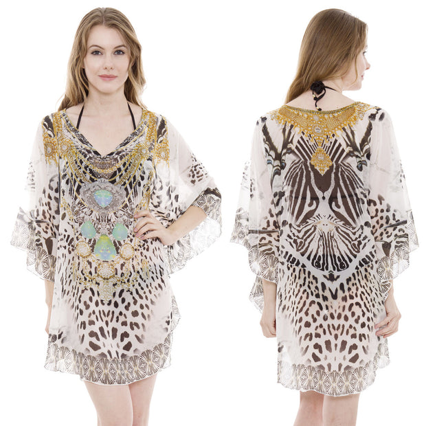 Mixed Print Gem Caftan