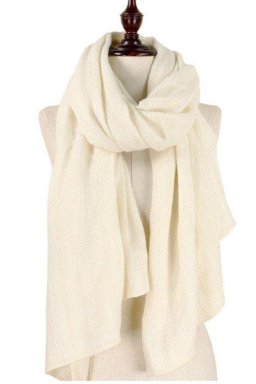 Solid Color Soft Knit Scarf