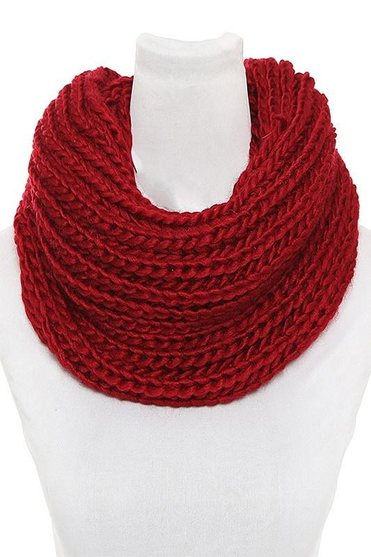 Loose Knit Infinity Winter Scarf