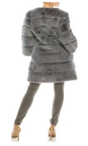 Faux Fur Coat Long