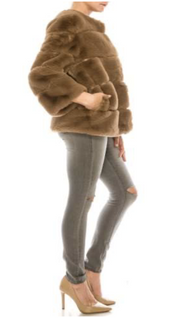 Faux Fur Coat Short