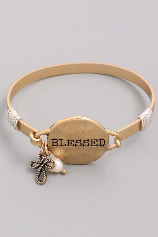 Mantra Disc Bangle Bracelet
