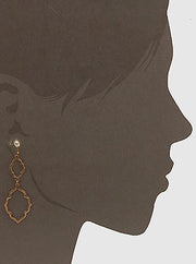Double Moroccan Shape Metal Earrings