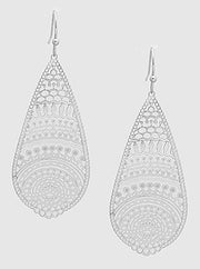 Filigree Tear Drop Earring