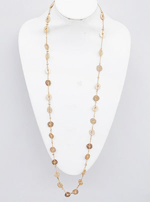 Round Shape Station Long Necklace