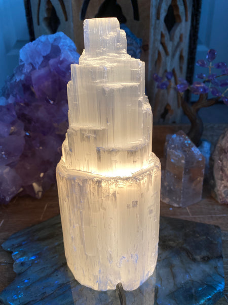 Selenite Lamp for Peace and Protection