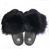Gricelda White Fox Fur Slides