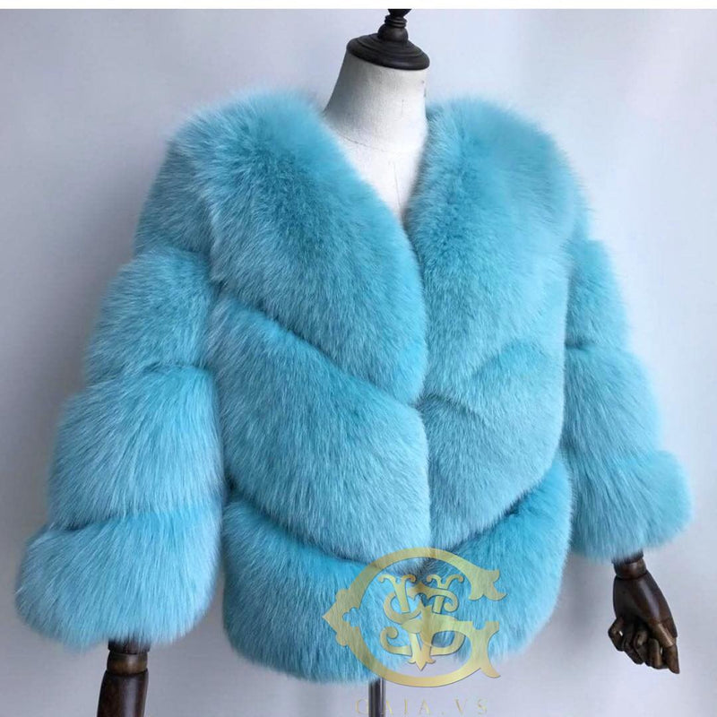 Tiffany Chevron Fox Fur