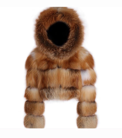 Duchess Hood Fox Fur Jacket