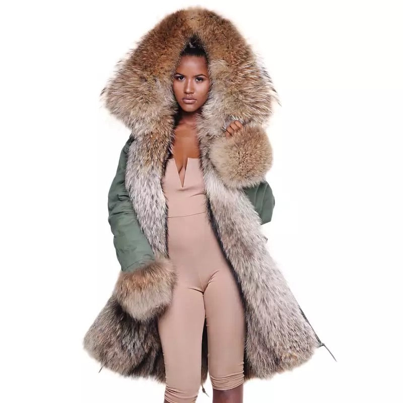 VS Raccoon fur Parka