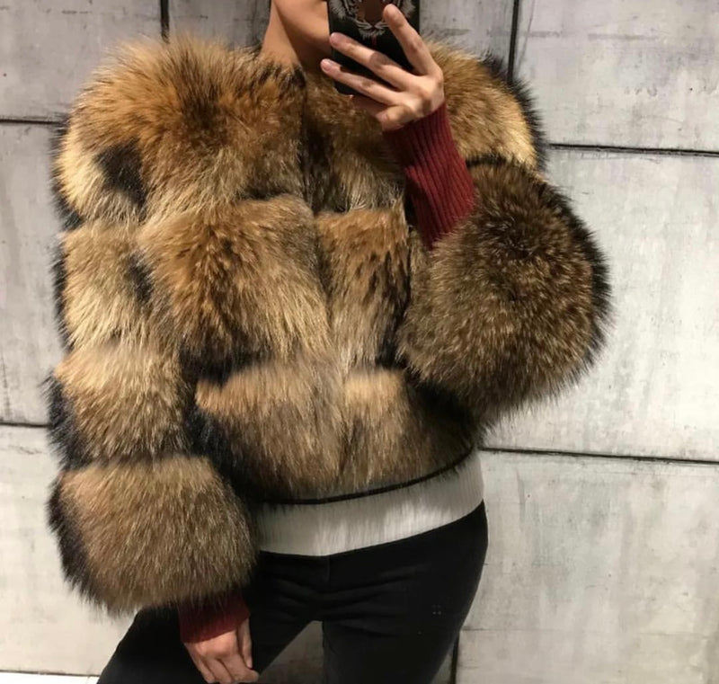 Raccoon Fur Bomber