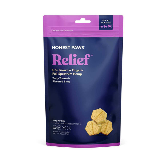 Honest Paws Relief Tumeric Flavored CBD Treats