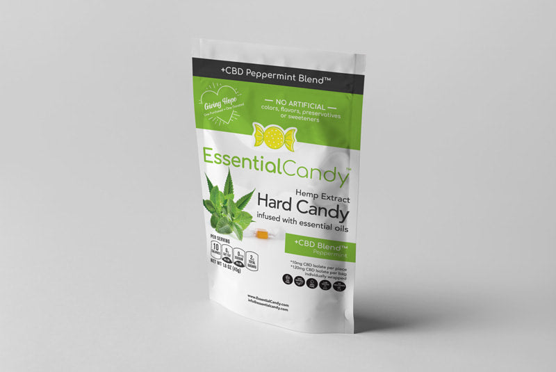 CBD Hard Candy - Mandarin, Peppermint or Lemon Ginger