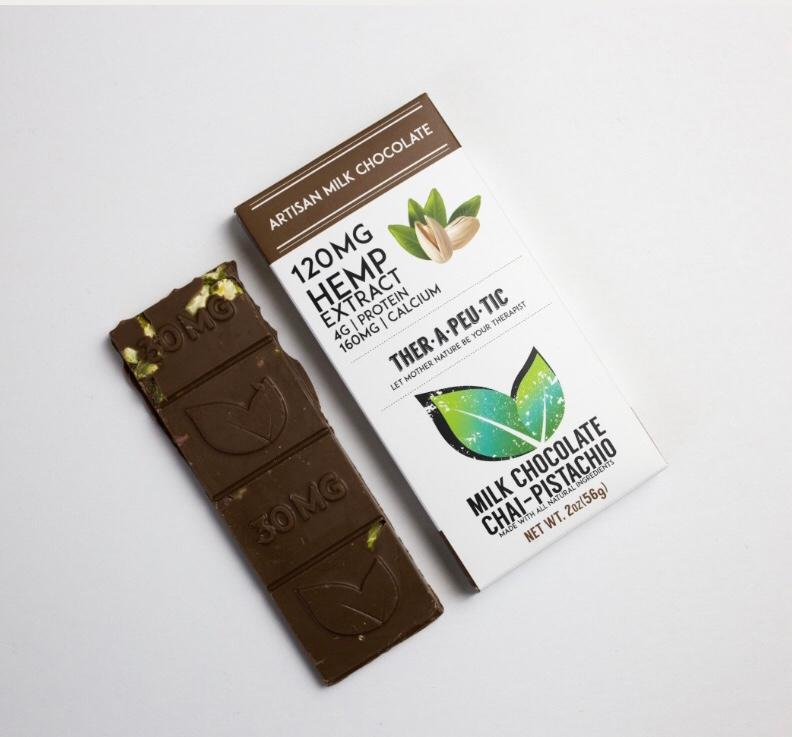 Ther-a-peu-tic Artisan Chai Pistachio Milk Chocolate