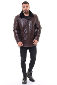 Zoe Leather Coat