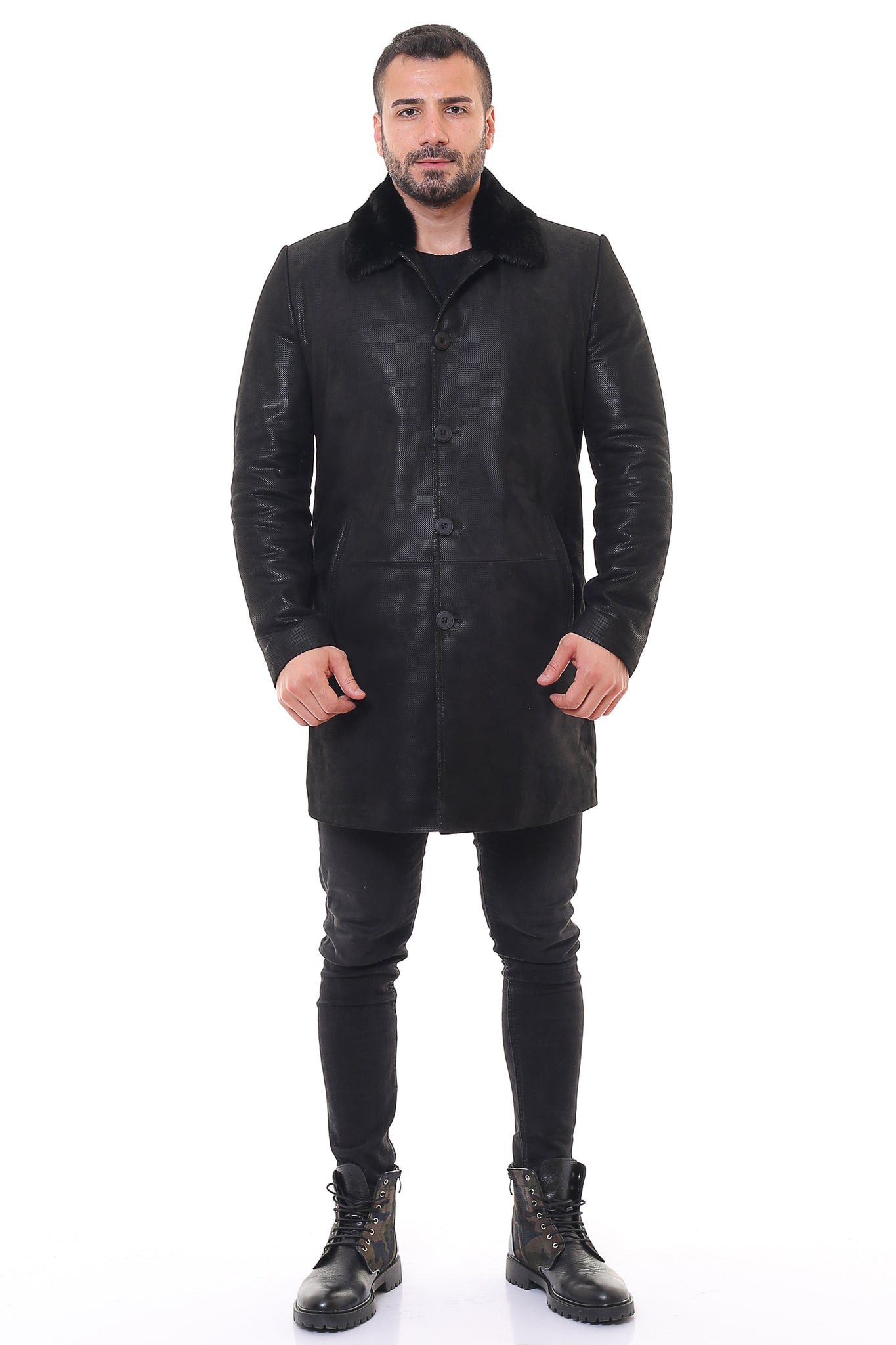 Emerson  Leather Trench Coat