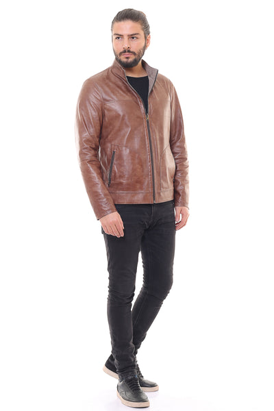 Electra Reversible Leather Jacket