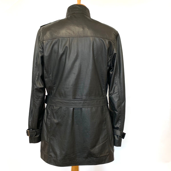 Albern Leather Trench Coat