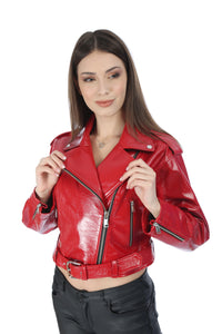 Cassie Women Leather Jacket