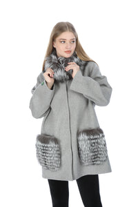 Saxton Women Alpaca Coat